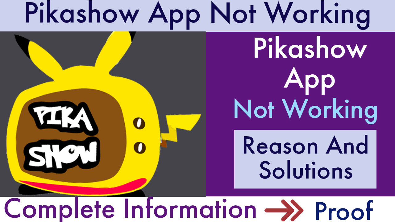 Pikashow App Not Working