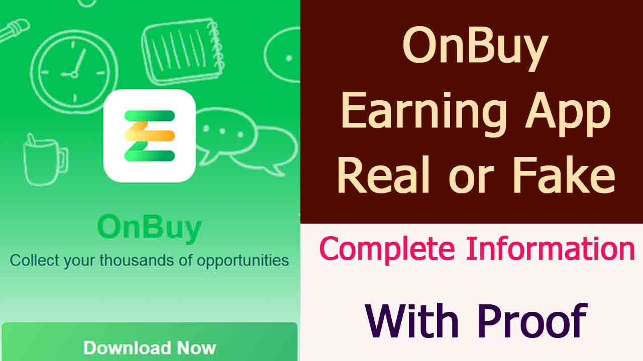 Onbuy Earning App Review
