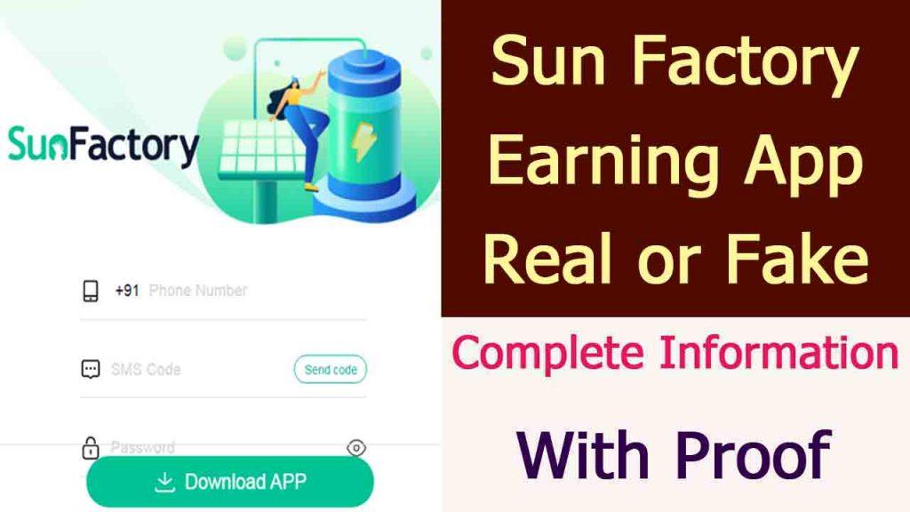 SunFactory Earning App