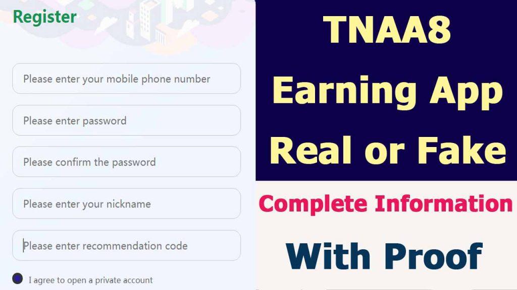 TNAA8 Earning App